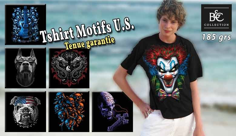 Tee shirt personnalisé grand motifs Américains